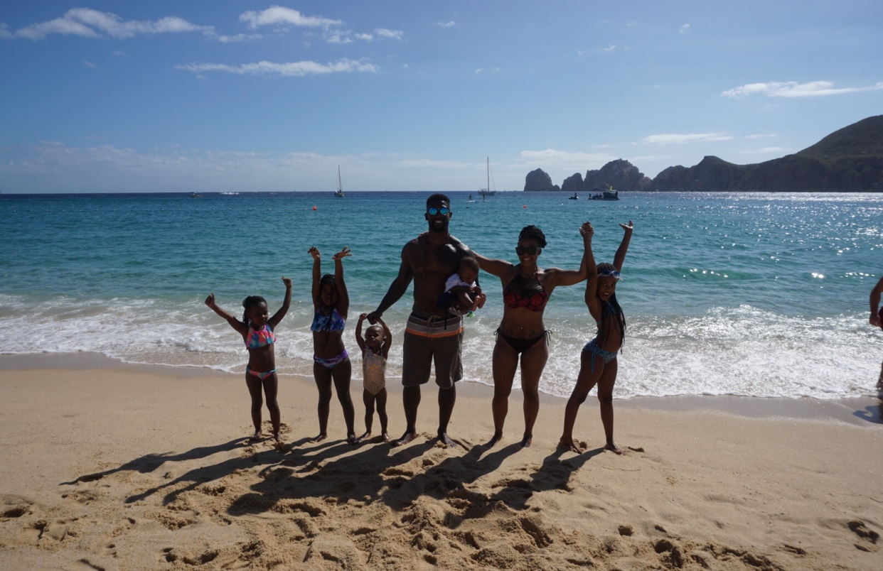 My family and I in Cabo