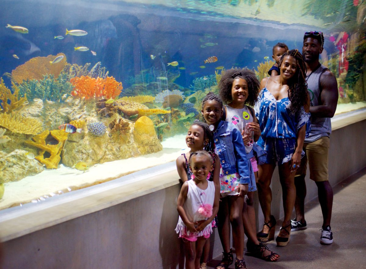 My family and I at the aquarium