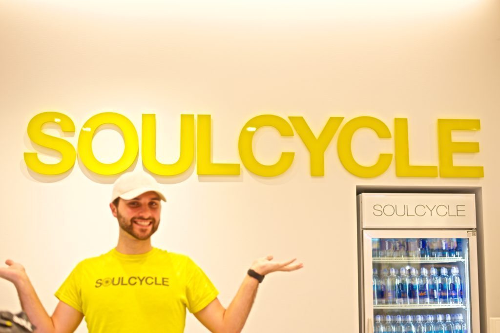The Soul Cycle staff smiling and welcoming me at 5:45am!