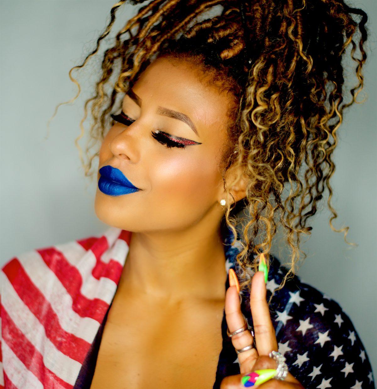 My Patriotic makeup look