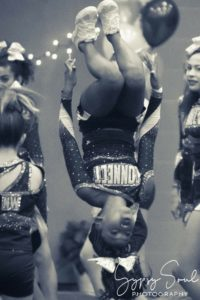 My oldest daughter at a cheer competition