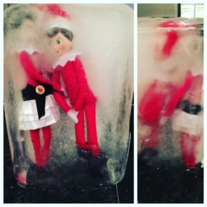 The elf of the shelf is frozen solid!